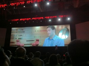 Jim Curry talking about OpenStack during the Red Hat Summit 2012 keynote