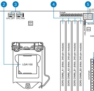 Asus Maximus VI Gene Motherboard CPU/memory layout