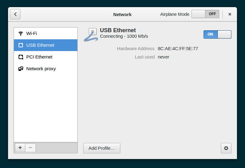 Share a wireless connection via ethernet in GNOME 3 14