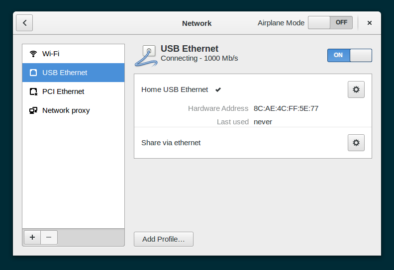 Share via ethernet