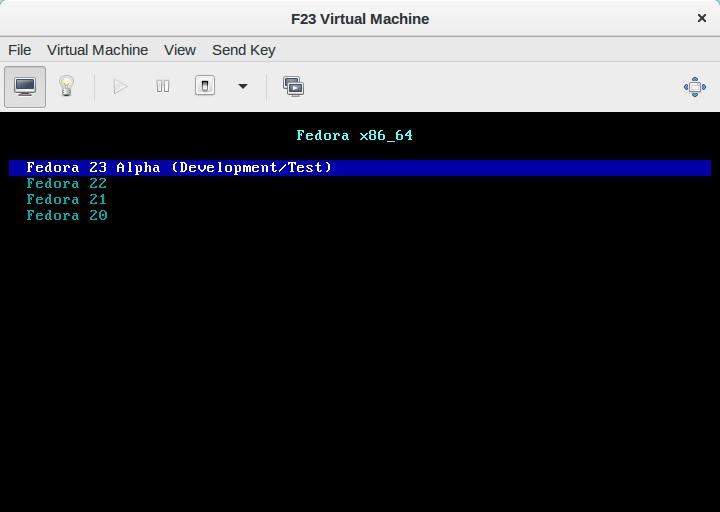 Fedora 23 alpha
