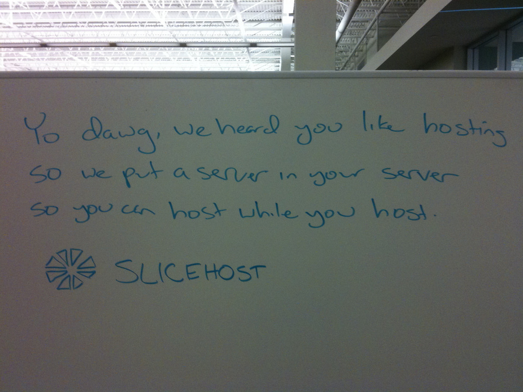 Slicehost humor in 2009